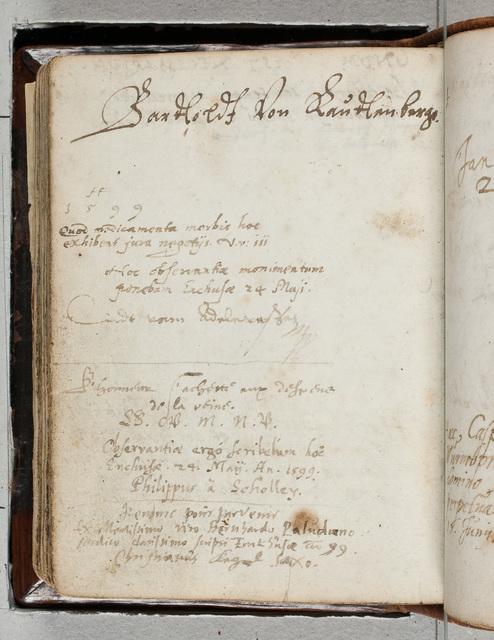 Albuminscriptie / van Christianus Kegel uit Saksen, voor Bernardus Paludanus (1550-1633)
