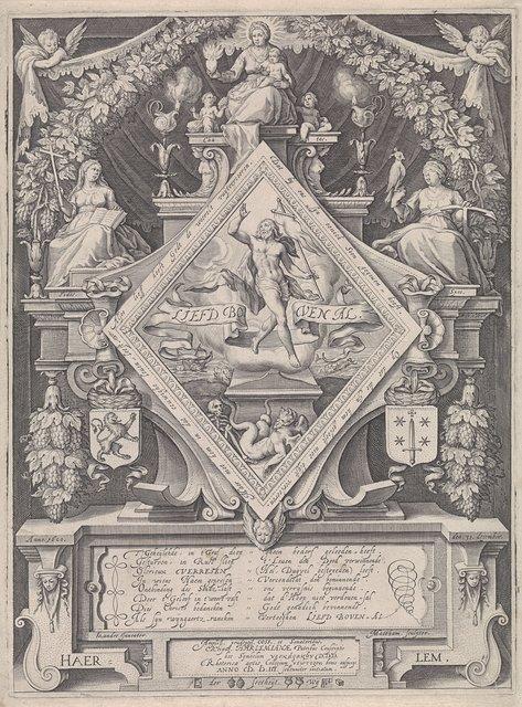 Nieuwjaarsprent van de Haarlemse rederijkerskamer De Wijngaertrancken, 1600