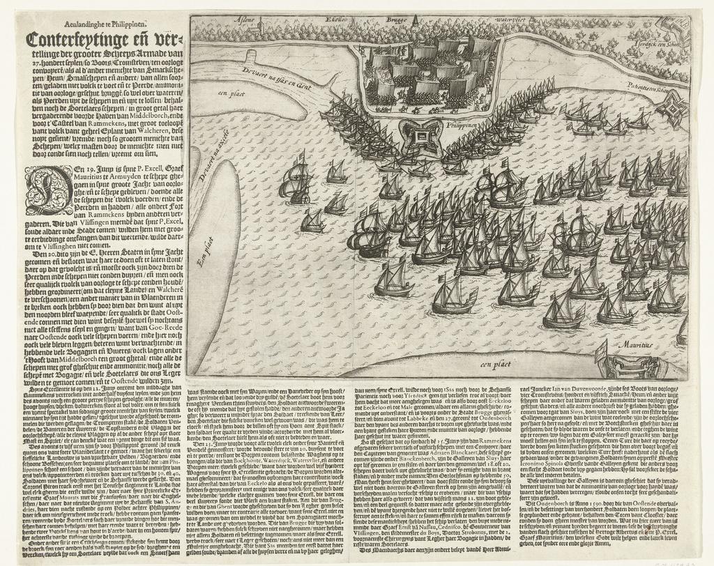 Staatse vloot voor Philippine, 1600