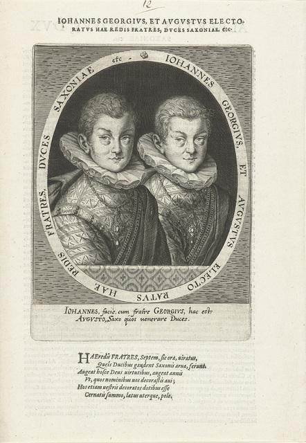 Dubbelportret van Johann Georg en August van Saksen