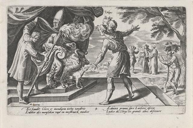 Luther onthult het bedrog van de katholieke geestelijkheid