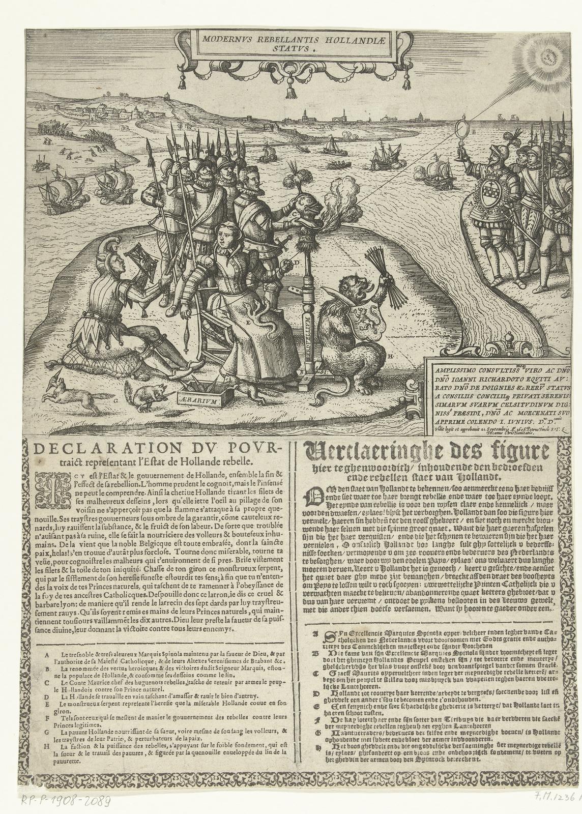 Spotprent op de rebelse staat van Holland, 1606