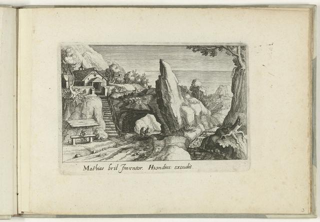 Landschap met poort in rots