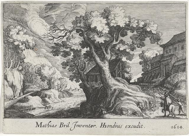 Rivierlandschap met een boom