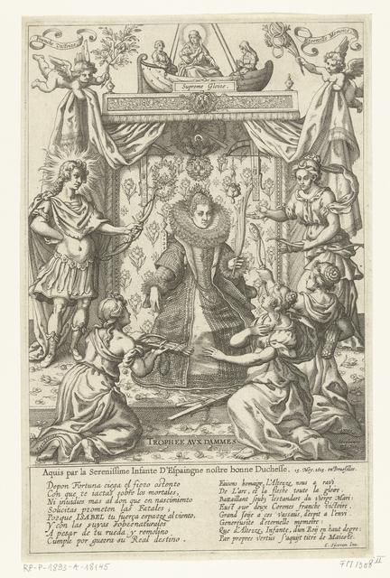 Allegorie ter ere van Isabella Clara Eugenia na het schieten van de papegaai in 1615