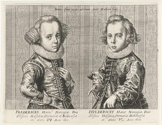 Portretten van Frederik III en Ulrich van Denemarken