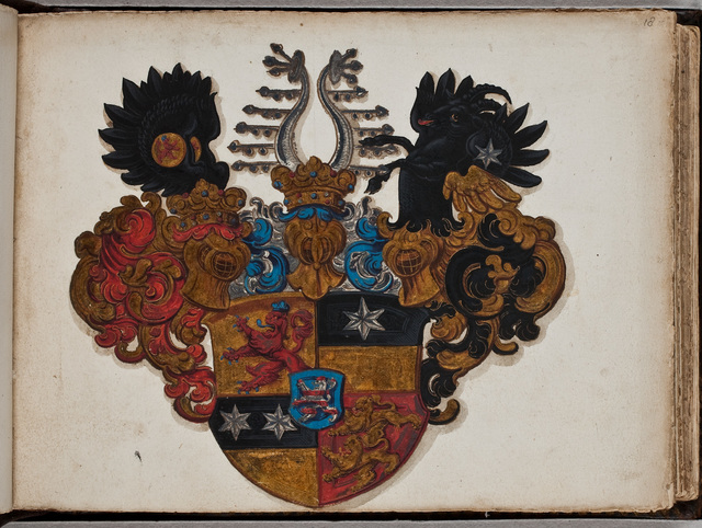 Geschilderd wapen / van Otto von Hessen-Kassel (1594-1617) voor Johannes l'Empereur de Oppijck (ca. 1594-1637), predikant