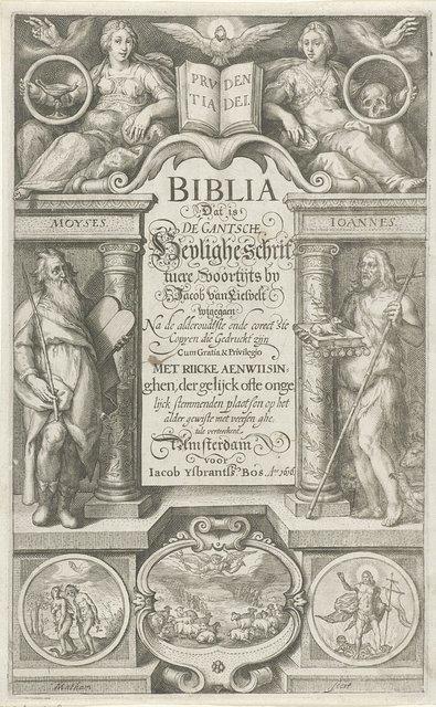 Titelpagina voor: Biblia Dat is de gantsche heylige schrift, 1616