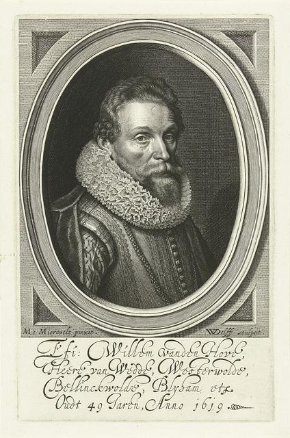 Portret van Willem van den Hove op 49-jarige leeftijd