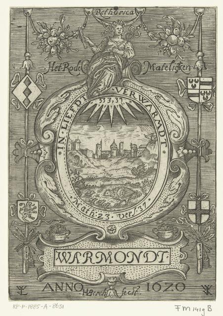 Blazoen van de rederijkerskamer Het Rode Madeliefje te Warmond, 1620
