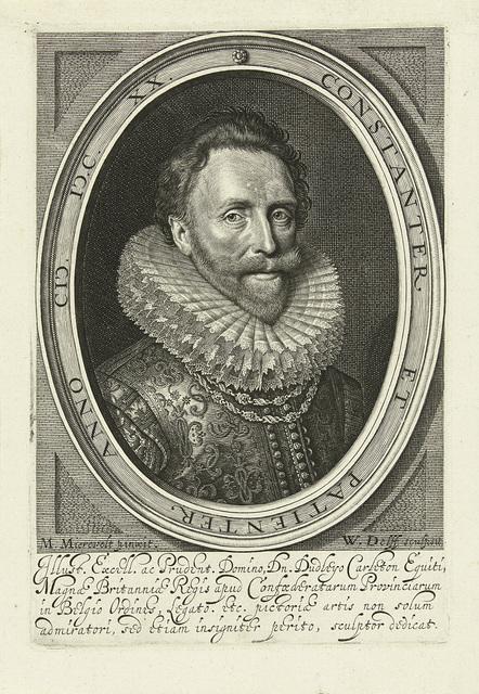 Portret van Dudley Carlton, graaf van Dorchester