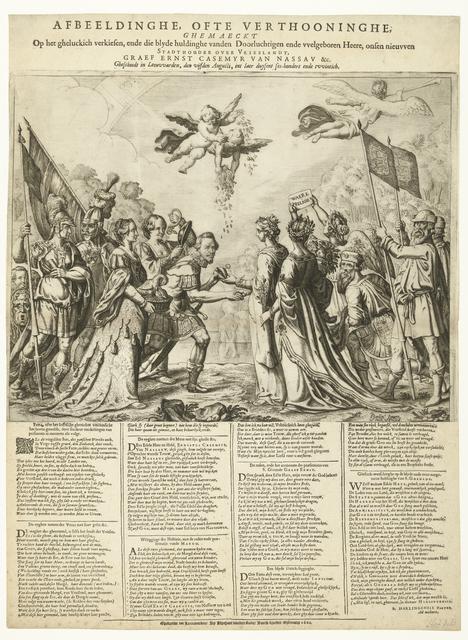 Allegorie op de installatie van Ernst Casimir, graaf van Nassau, tot stadhouder van Friesland, 1620