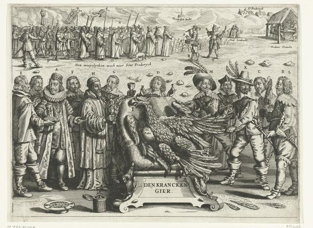 Spotprent op de val van paltsgraaf Frederik van Bohemen, 1622