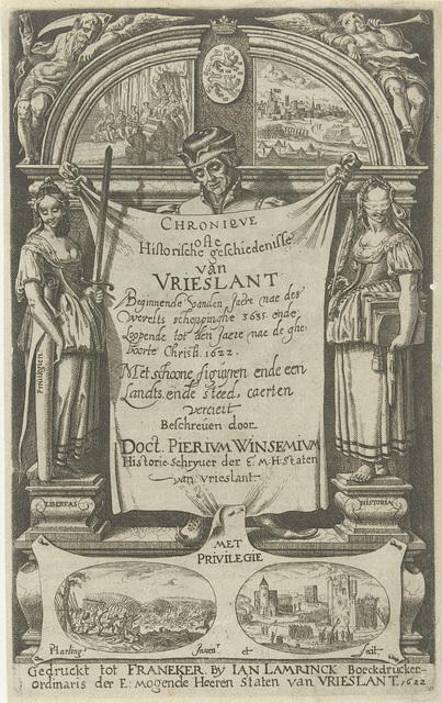 Titelpagina voor Chronique ofte Historische Geschiedenisse van Vrieslant, 1622