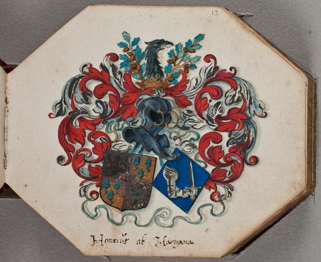 Eigendomsinscriptie / van Homme van Harinxma (1607-1663) in zijn album amicorum