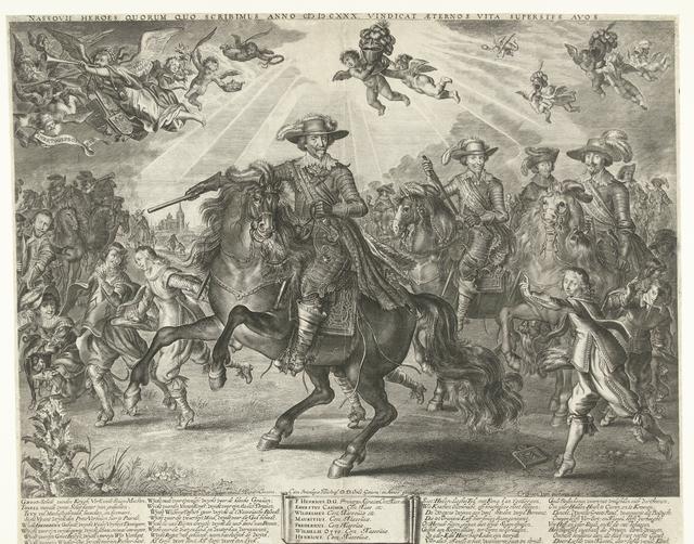 Allegorie op Frederik Hendrik na de verovering van Den Bosch, Wesel en Grol, 1629-1630
