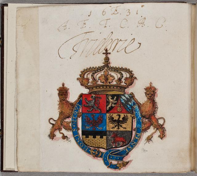 Albuminscriptie / van Frideric [V (1596-1632), koning van Bohemen, keurvorst van de Palts], voor Seger Quirijnsz. van der Maes (-1640)