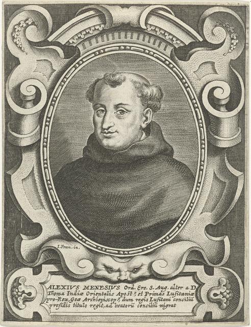 Portret van de Augustijn Aleixo de Menezes, aartsbisschop van Goa en Braga