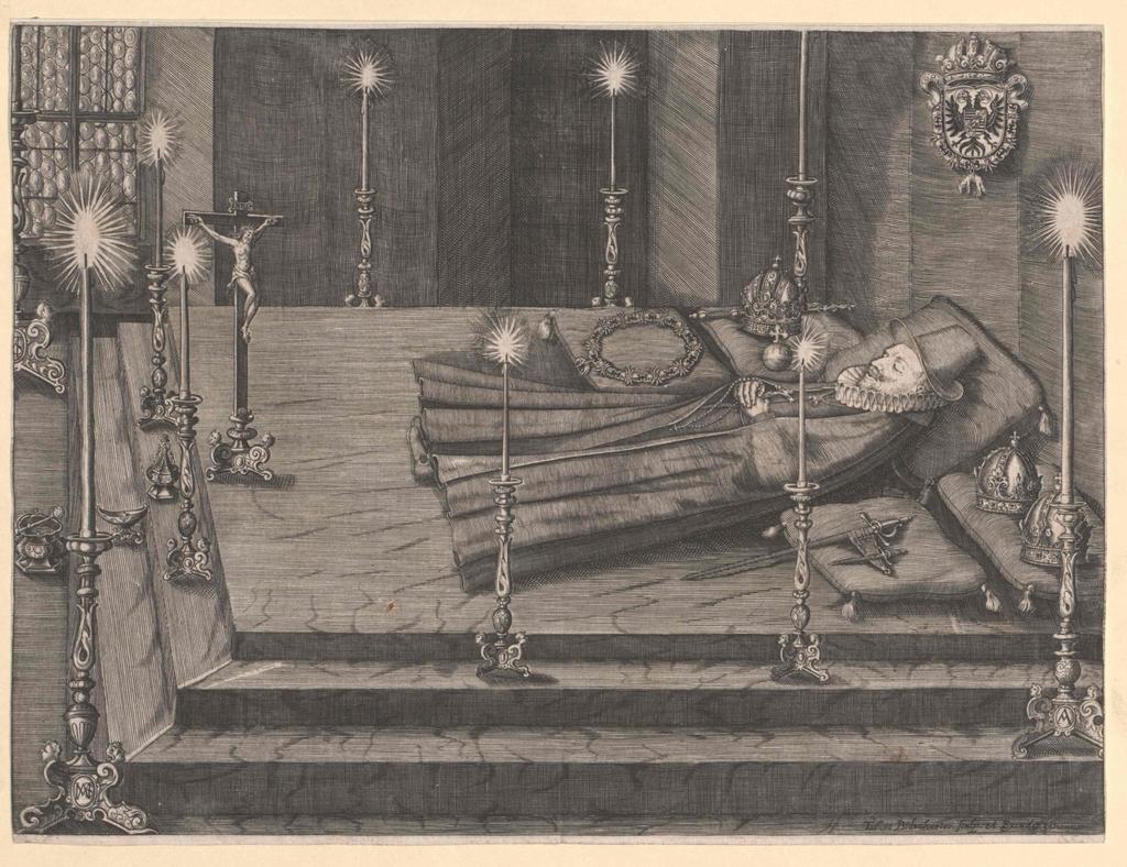 Aufbahrungsbildnis Kaiser Ferdinand II.