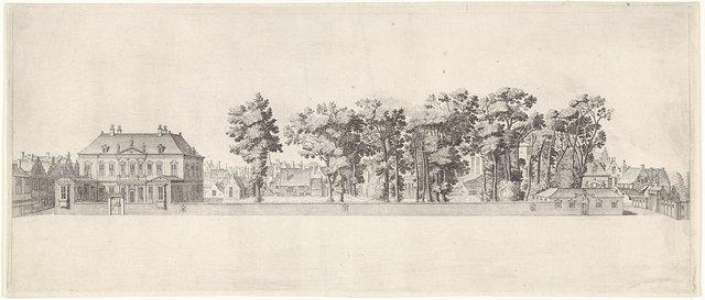 Gezicht op het huis van Huygens aan het Plein te Den Haag