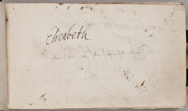 Albuminscriptie / van Elisabeth [von der Pfalz (1618-1680)], voor Johann Philip Mulheiser
