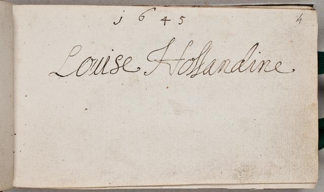 Albuminscriptie / van Louise Hollandine von der Pfalz (1622-1709), voor Johann Philip Mulheiser