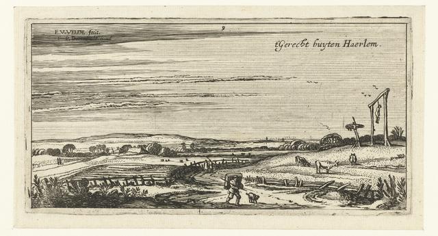 Landschap met galgenveld bij Haarlem