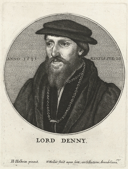 Portret van Sir Anthony Denny
