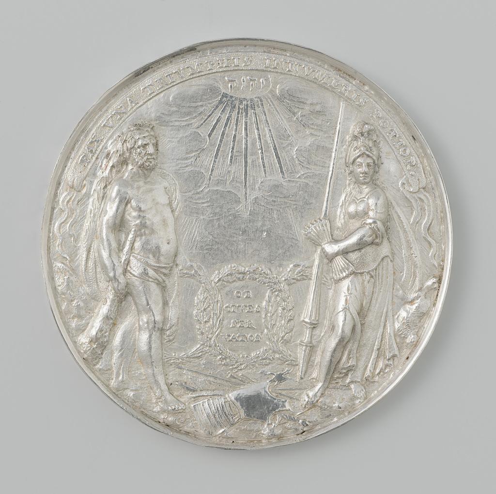 Vrede van Munster, geslagen door de stad Amsterdam, met op kant naam Sara de les Planques
