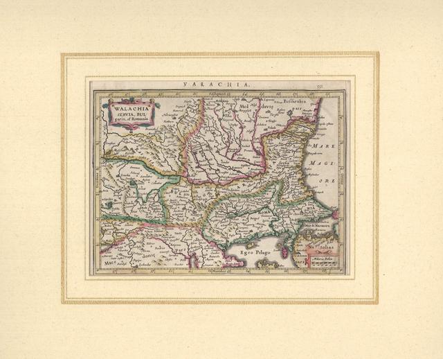 Walachia, Servia, Bulgaria et Romania : [Стара карта]