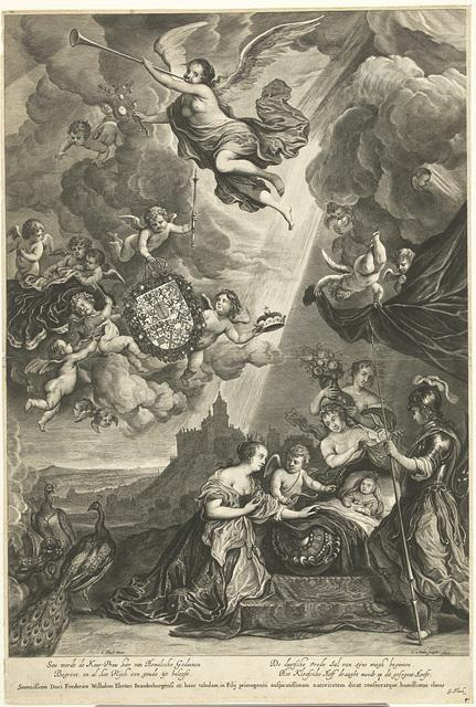 Allegorie op geboorte van Willem Hendrik, erfprins van Brandenburg in 1649