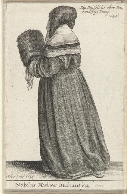 Nobilis Mulier Brabantica / Ein Brüsselsche oder Brabandische Dame