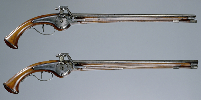 Pair of pistols and a bullet associated with the death of William Frederick of Nassau, Stadtholder of Friesland