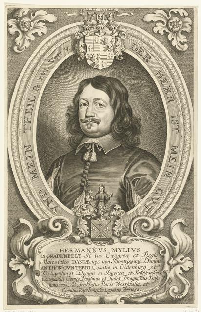 Portret van Hermannus Mylius von Gnadenfeld