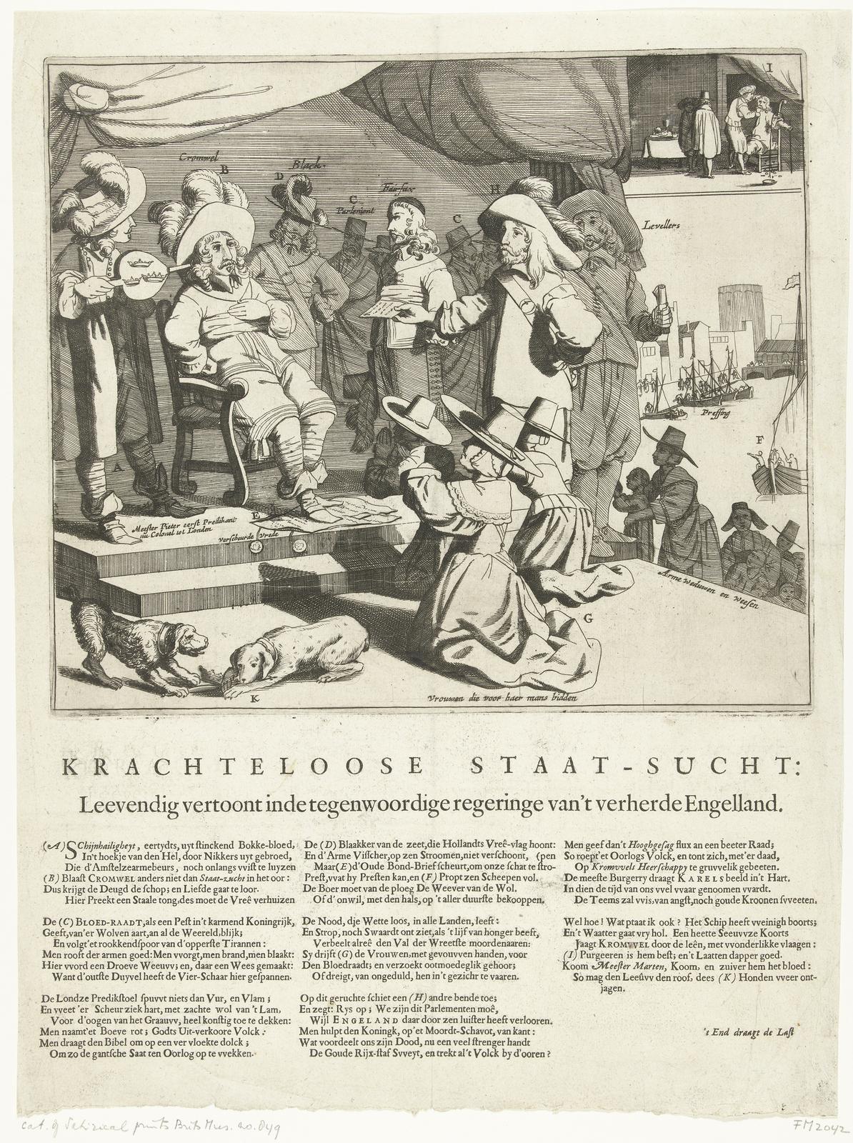 Spotprent op Engeland en Cromwell, 1652