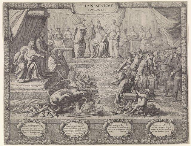 Allegorie op de bestrijding van het Jansenisme