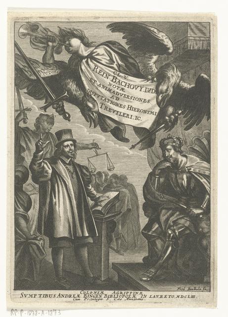 Disputaties van Reinhard Bachow von Echt en Hieronymus Treutler