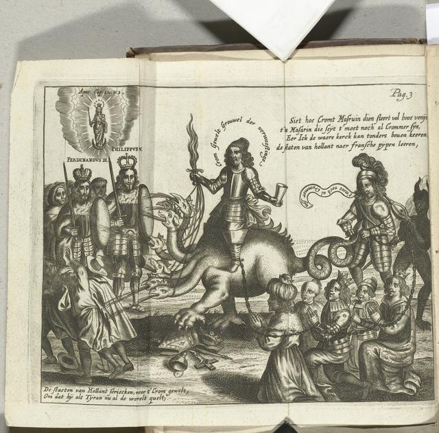 Spotprent op Cromwell, 1656