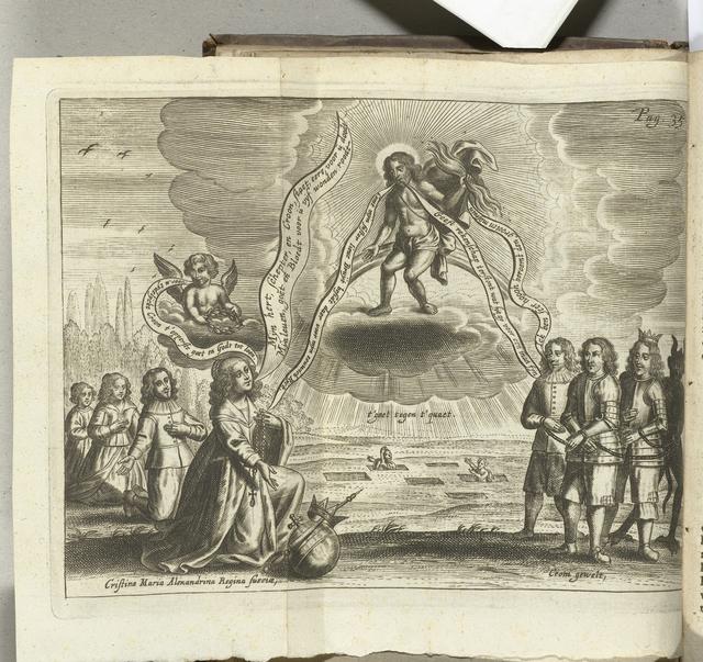 Spotprent op Cromwell en Mazarin, 1656