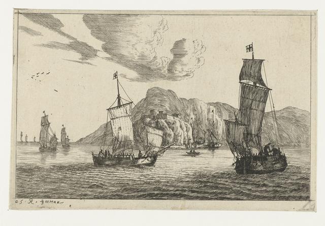 Vissersboten in een baai