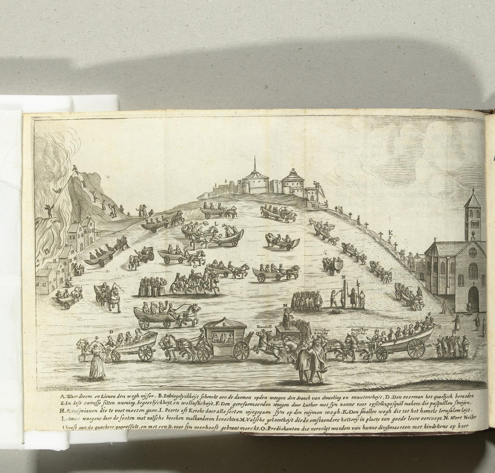 Spotprent op de protestanten, 1657