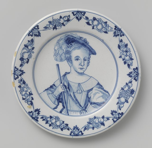Dish with a Portrait of Prince William III as a Child