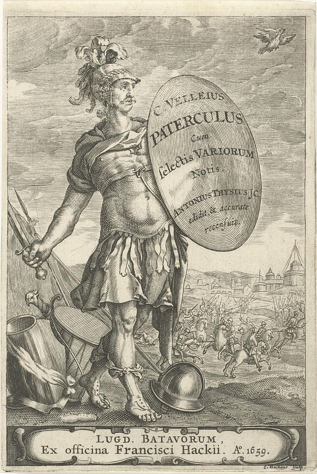 Romeinse krijgsman voor een slagveld