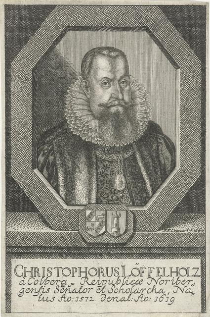 Portret van Christophorus Löffelholz von Kolberg