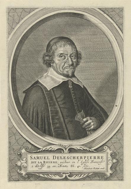 Portret van Samuel Delescherpierre
