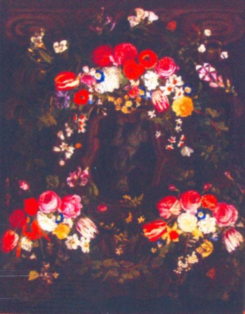 Ghirlandă de flori cu lalele