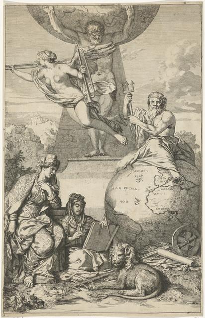 Atlas draagt de wereld op zijn schouders