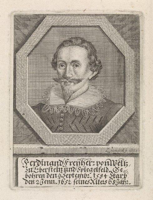 Portret van Ferdinand von Weltz