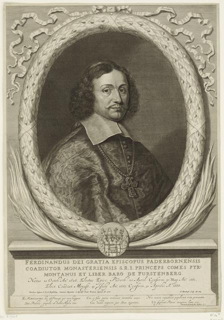 Portret van Ferdinand van Fürstenberg, prins-bisschop van Paderborn