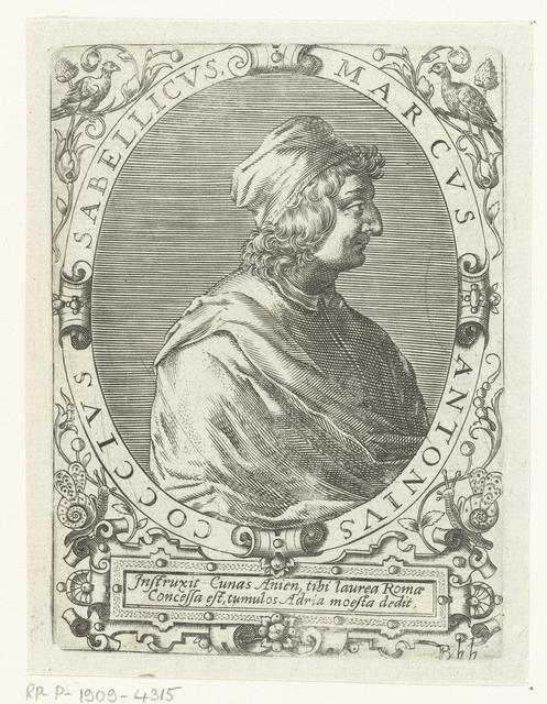 Portret van Marcus Antonius Sabellicus